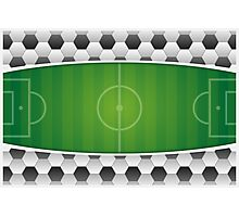 Geometric Sports Lover Soccer Stadium Photographic Print