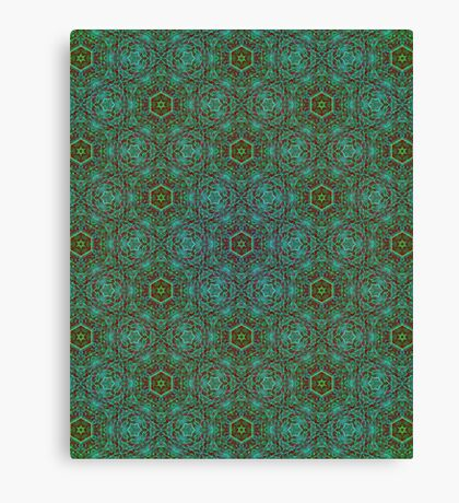 Green Pencil Pattern Canvas Print