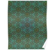 Green Pencil Pattern Poster