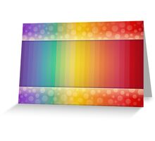 Colorful Rainbow Striped and Polka Dot Spectrum Greeting Card