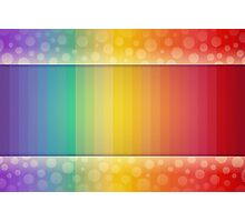 Colorful Rainbow Striped and Polka Dot Spectrum Photographic Print