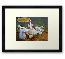 Goosebumps  (please see notes) Framed Print