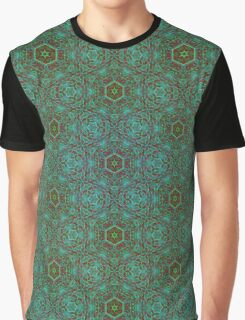 Green Pencil Pattern Graphic T-Shirt