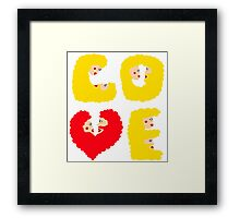 Love – that's it Framed Print