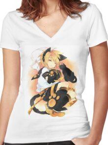 Kagamine Len Women's Fitted V-Neck T-Shirt