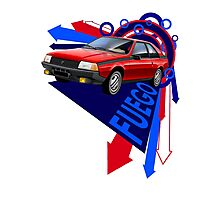 Renault Fuego 'Explosion' Graphic Art Photographic Print