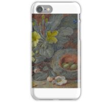 Vincent Clare  A BIRD'S NEST WITH PRIMROSES ON A BANK iPhone Case/Skin
