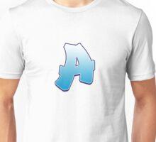 Letter A Blue Unisex T-Shirt
