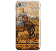 Vincent van Gogh - Morning,  Peasant Couple Going to Work after Jean-Francois  iPhone Case/Skin