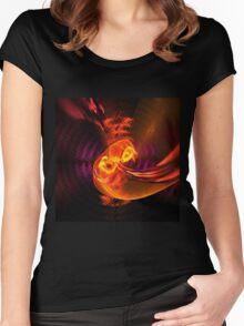Fiery swirl Women's Fitted Scoop T-Shirt