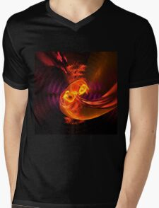 Fiery swirl Mens V-Neck T-Shirt