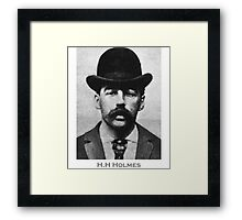H.H Holmes Americas First Serial Killer Framed Print