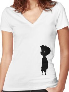 LIMBO BOY IN BLACK Women's Fitted V-Neck T-Shirt
