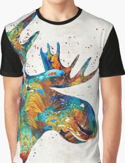 Colorful Moose Art - Confetti - By Sharon Cummings Graphic T-Shirt