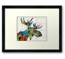 Colorful Moose Art - Confetti - By Sharon Cummings Framed Print