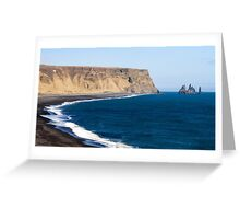 Black Basalt Beach at Vik Greeting Card