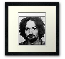 Charles Manson Mugshot Framed Print