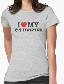 I love my MAZDA JDM japan car lover Womens Fitted T-Shirt