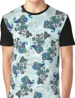 Traditional flower illustration paisley pattern Graphic T-Shirt