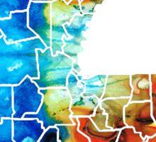 Louisiana Map - State Maps By Sharon Cummings Sticker