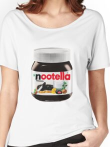 pingu nutella, nootella  Women's Relaxed Fit T-Shirt
