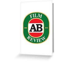 AB Film Review Logo 2 Greeting Card