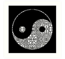 Perfect Balance 2 - Yin and Yang Stone Rock'd Art by Sharon Cummings Art Print