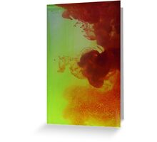 Colourful ink water photography  Greeting Card
