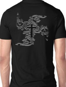 VAMPIRE, GOTHIC, CROSS, GOTH, GRUNGE, Vine, Tattoo, Christian, Crucifix, ON BLACK Unisex T-Shirt