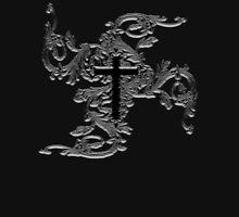 GOTHIC, GOTH, GRUNGE, CROSS, Vine, Tattoo, Christian, Crucifix, VAMPIRE, ON BLACK Unisex T-Shirt