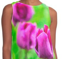 Purple Buds Of Tulips Contrast Tank