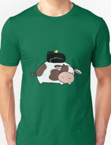 Cow Black Cat and Chick Unisex T-Shirt