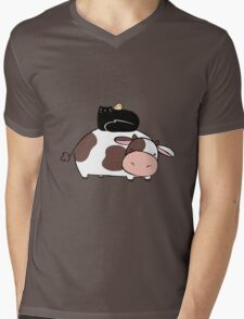 Cow Black Cat and Chick Mens V-Neck T-Shirt
