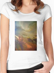 Aerial Great Salt Lake Women's Fitted Scoop T-Shirt
