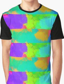 Colorful & Bright Splash Lines Graphic T-Shirt