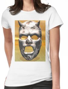 MASK OF STONE Womens Fitted T-Shirt