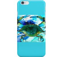 Blue Crab - Abstract Seafood Painting iPhone Case/Skin