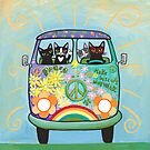 Hippie Cats Road Trip! by Ryan Conners