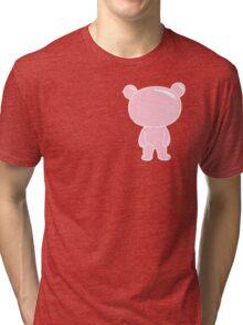 Pink Bubble Bear Tri-blend T-Shirt