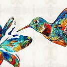 Colorful Hummingbird Art by Sharon Cummings by Sharon Cummings
