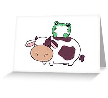 Frog Cow Greeting Card