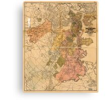 Map of Boston Massachusetts (1888) Canvas Print