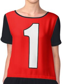 Football, Soccer, 1, One, Number One, First, Team, Number, Red, Devils Chiffon Top