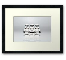 Storm Trooper Line up Framed Print