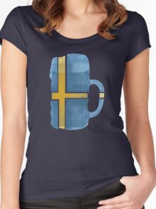 Sweden Beer Flag Women's Fitted Scoop T-Shirt