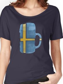 Sweden Beer Flag Women's Relaxed Fit T-Shirt