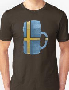 Sweden Beer Flag Unisex T-Shirt