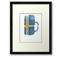 Sweden Beer Flag Framed Print