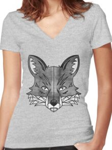 Fox (texture) Women's Fitted V-Neck T-Shirt