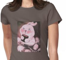 Chubby Dustbunny Womens Fitted T-Shirt